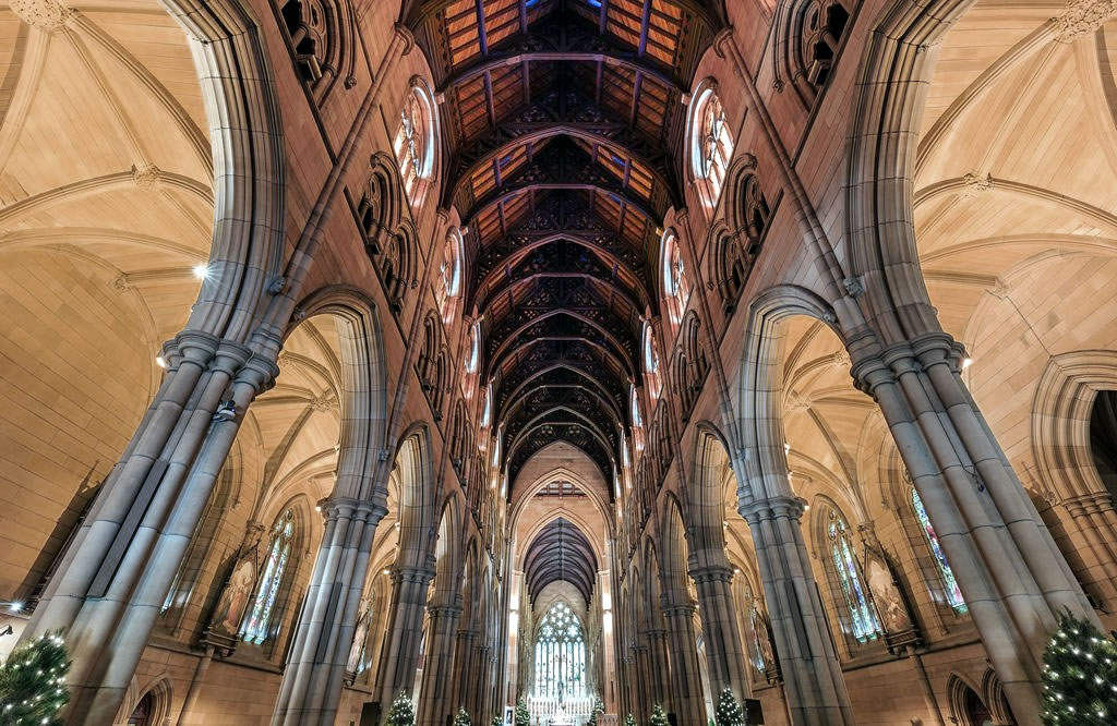 The Ceiling of St. Mary's Cathedral in Sydney